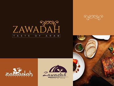Food Logos yellow logo taste arabic logo typography logo branding luxury restaurant logo food logo