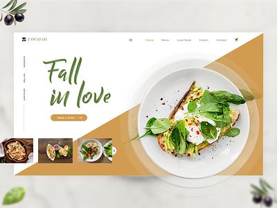 Food Landing Page typography design foodie home-page branding creative banner food food landing banner