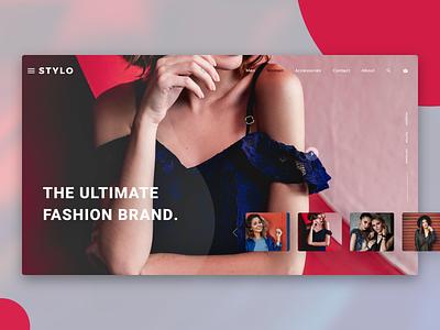 Fashion Style Banner design uiux typography branding