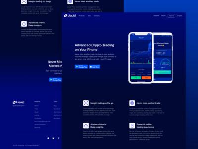 Liquid Pro - Mobile App Landing Page