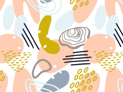 Abstract pattern with organic shapes in pastel colors. seamlesspattern pattern vector abstract art pastel color illustrator illustration design floral branding abstraction abstract