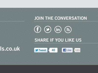 Web design web design website footer social