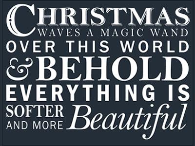 Xmas Typography typography christmas quote xmas