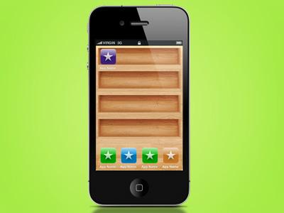 Wooden iphone shelves