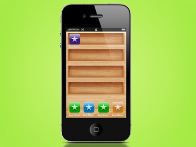Wooden iphone shelves iphone background wood wooden psd freebie