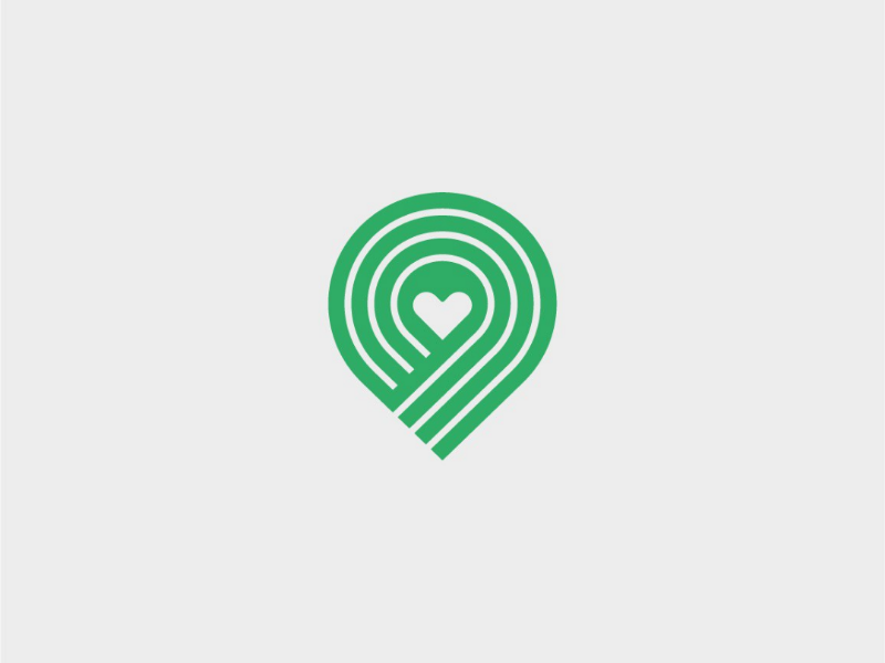 Charity Logo WIP logo brand charity heart map