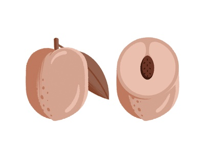 Big Fat Peach packaging design packaging illustration leaf seed fruit peachy peach
