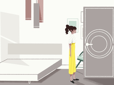 Let's Rise #2 pastels pastel colours westin characterdesign bed door hotel room ambiance scenery concept art direction illustration