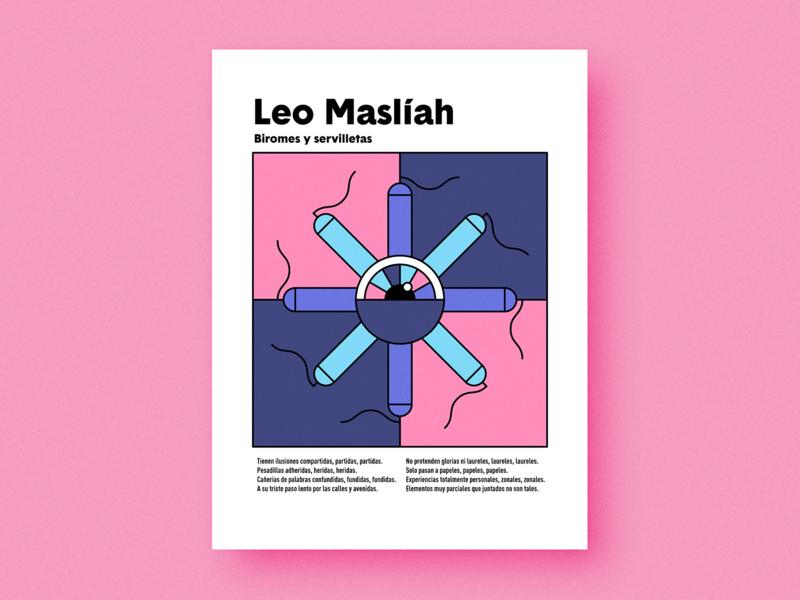 Biromes y servilletas love music editorial geometric geometry print poster square circle shapes grain texture flat minimal minimalism minimalist vector