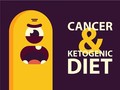 Cancer & Ketogenic diet diet monster sticker medicine health survive live ketogenic ketones keto character cancer