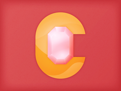 """C is for """"Cristales"""" ruby light type lettering 36daysoftype steven universe pink love quartz diamond gems crystals"""