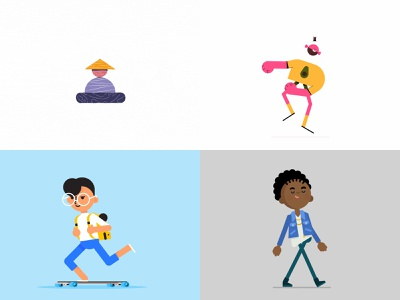 #Top4shots 2018 speed fast love happy skate dance run walk jump mascot emoji loader web illustration character animation motion graphics character shapes animated gif 2d animation