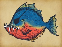 Piranha Sketch