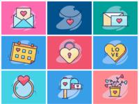 Valentine Icon Set I