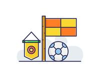 Football Flag  Captain Flag and Ball