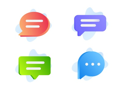 Chat bubble Variations