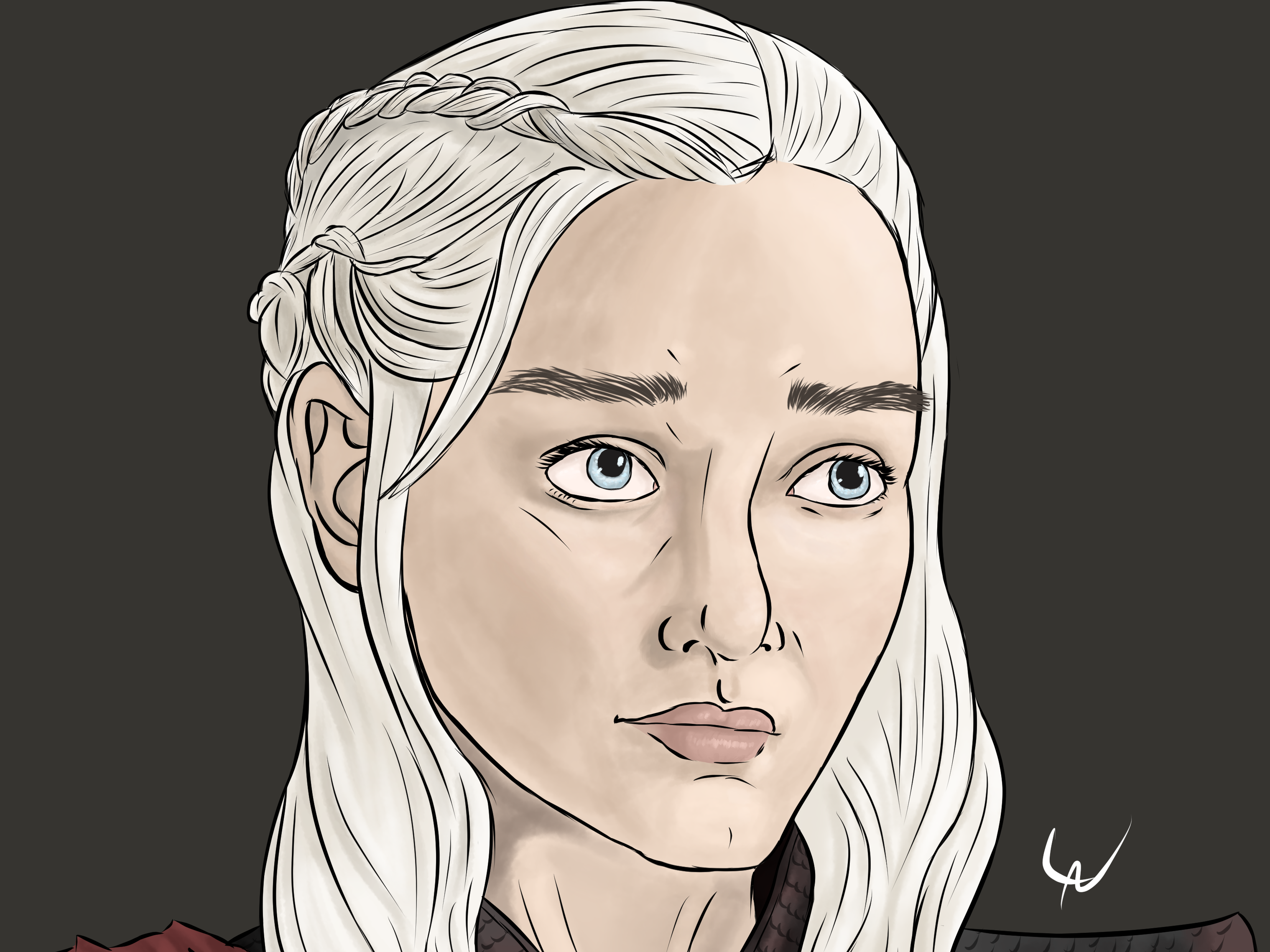 Daenerys Dragon Illustration By Lara 2 0 On Dribbble