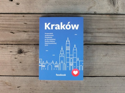 Culinary Guide for Facebook poland krakow type book typography minimal line illustration icon flat facebook design