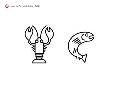 Lobster & Trout – Icons for Facebook