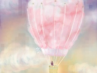 Cotton Candy Hot Airballoon