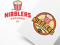 popcorn company logo design