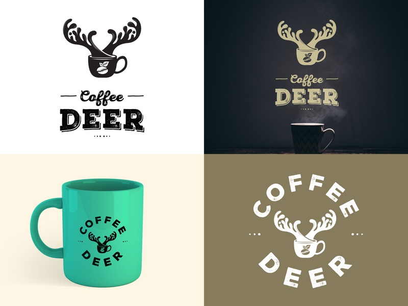 Coffee Deer logo proposal branding logo design concept logo design coffee