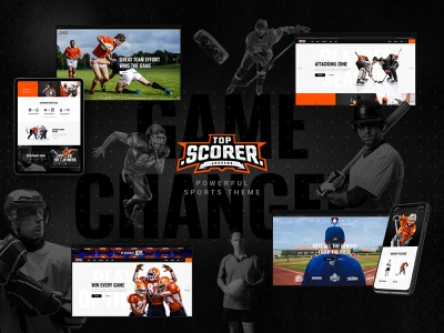 Top Scorer - Sports WordPress Theme creative web design responsive landing page ux ui theme wordpress fitness organizations sports