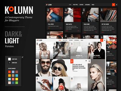 Kolumn - Blog Theme travel blog photography personal blog lifestyle portfolio gallery fashion blog blog creative web design template responsive layout theme wordpress