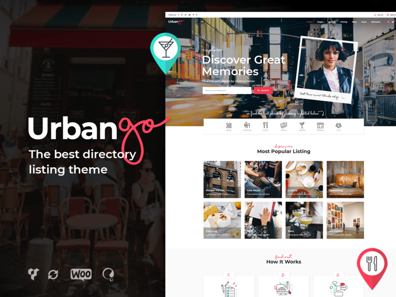 UrbanGo - Directory and Listing Theme directory listing directory city guide business web design template responsive layout theme wordpress