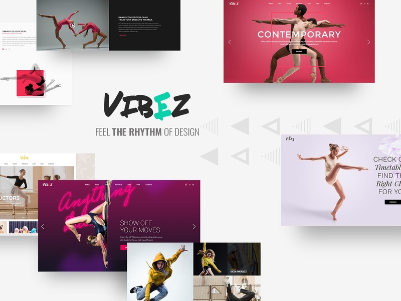 Vibez - Dynamic Theme for Dance Studios and Instructors studio music dancer multipurpose events dance coming soon ballet web design template responsive layout theme wordpress