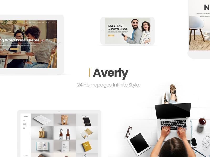 Averly - Creative Multipurpose Theme studio showcase professional photography portfolio personal portfolio multipurpose freelance design business agency creative web design template responsive layout theme wordpress