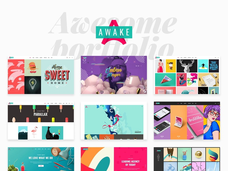 Awake - Creative Portfolio Theme studio showcase portfolio personal portfolio gallery freelance digital agency illustration design creative agency web design template responsive layout theme wordpress