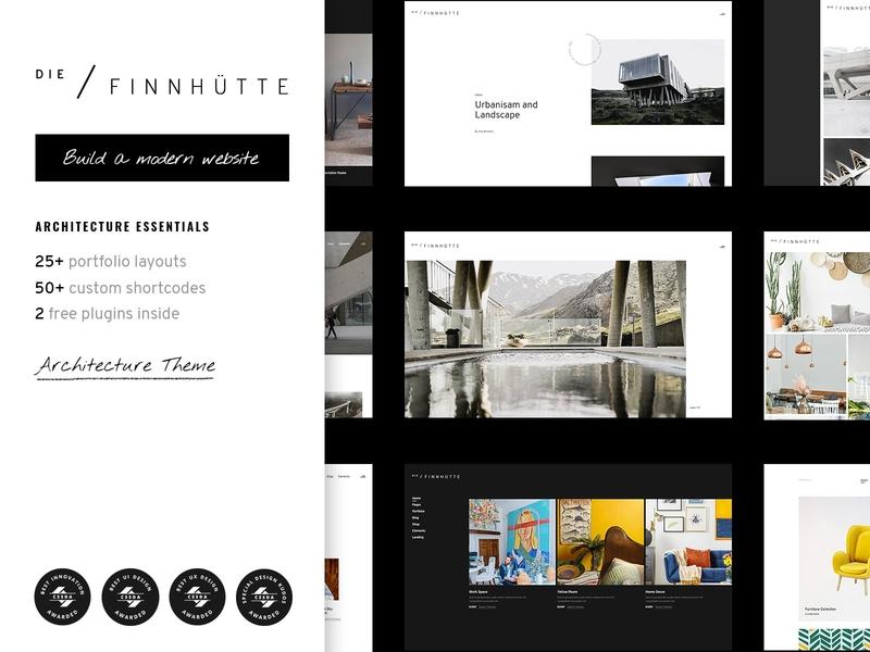Die Finnhütte - Modern Architecture and Interior Design Theme interior design furniture design agency architecture portfolio web design template responsive layout theme wordpress