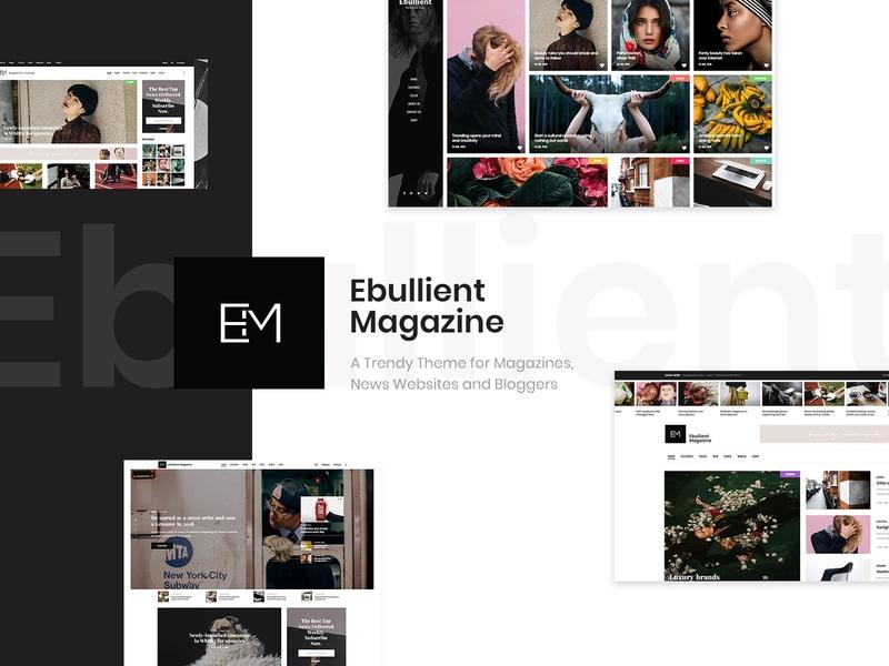 Ebullient - Magazine & News Theme social media publishing newspaper magazine editorial web design template responsive layout theme wordpress