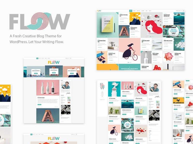Flow - Creative Blog blog art design creative template responsive layout theme wordpress