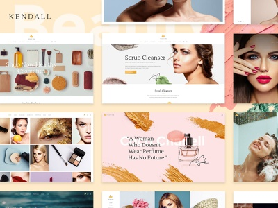 Kendall - Spa, Hair & Beauty Salon Theme wellness spa skincare showcase shop hair salon gallery cosmetics beauty salon beauty portfolio web design template responsive layout theme wordpress