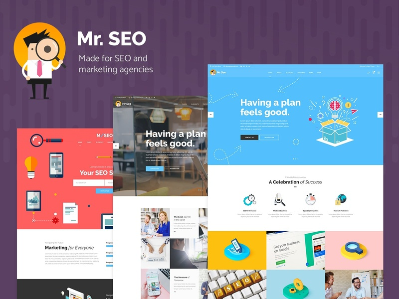 Mr. SEO - SEO & Social Media Marketing Agency Theme video startup social media seo saas marketing hosting digital agency data analytics consulting agency web design template responsive layout theme wordpress