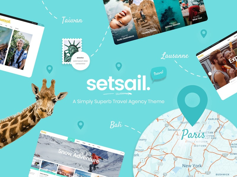 SetSail - Travel Agency Theme wine tours travel blog travel agency travel tourism tour showcase exotic booking web design template responsive layout theme wordpress
