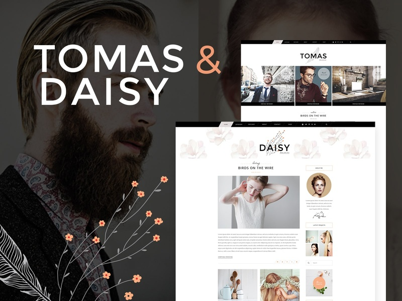 Tomas and Daisy - Personal Blog Theme photography lifestyle food fashion blog fashion blog creative web design template responsive layout theme wordpress