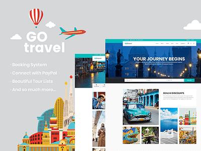 GoTravel - Travel Agency Theme agency webdesign tourism travel agency travel web design responsive layout website mockup template theme wordpress