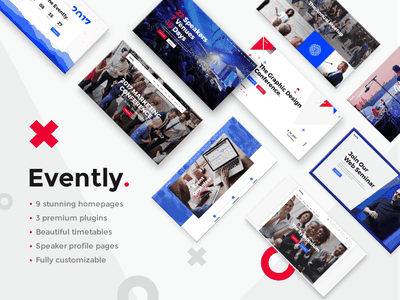 Evently - Conference & Meetup Theme webinar schedule multipurpose meetup marketing festival events conference business blog design web design template responsive layout theme wordpress