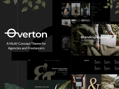 Overton - Creative Theme for Agencies and Freelancers video vcard photography portfolio photography personal portfolio freelance design agency branding agency business agency design creative web design template responsive layout theme wordpress