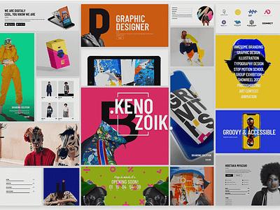 Kenozoik - Vibrant Portfolio Theme video studio personal portfolio gallery freelance creative agency coming soon art portfolio illustration design creative web design template responsive layout theme wordpress