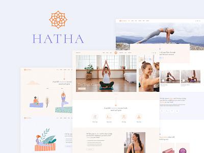Hatha - Yoga WordPress Theme landing page web design ux ui template theme wordpress wellness fitness meditation yoga