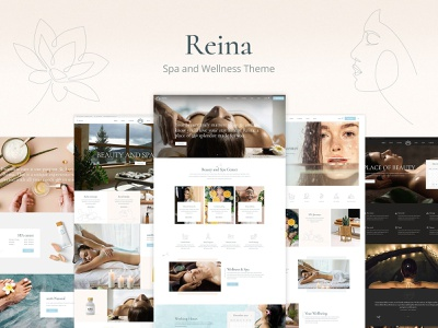 Reina - Spa and Wellness Theme webdesign layout responsive template theme wordpress
