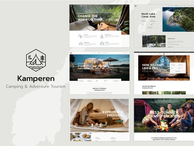 Kamperen - Camping and Adventure Tourism WordPress Theme illustration design template responsive layout theme wordpress