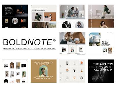Boldnote - Portfolio and Agency WordPress Theme illustration design template responsive layout theme wordpress