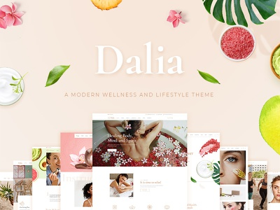 Dalia nutritionist skincare makeup beauty salon spa beauty lifestyle wellness modern design responsive landing page template webdesign layout website mockup wordpress ux ui theme