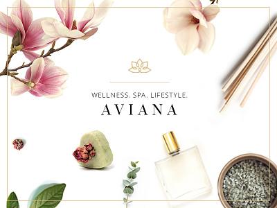 Aviana therapy nutrition cosmetics web design theme ui ux wordpress website mockup layout template responsive spa wellness beauty beauty salon lifestyle resort design product