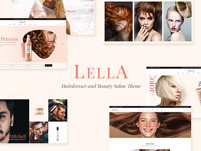Lella website web booking lifestyle beauty blog hairstyle beauty product product design cosmetics hairdresser beauty salon beauty hair salon branding template layout web design website mockup wordpress theme
